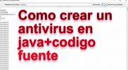 como hacer un antivirus en java