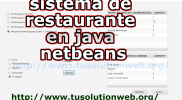 sistema de restaurante en java netbeans