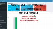 sistema de control de producción para fabrica