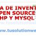 sistema de inventario open source con php y mysql